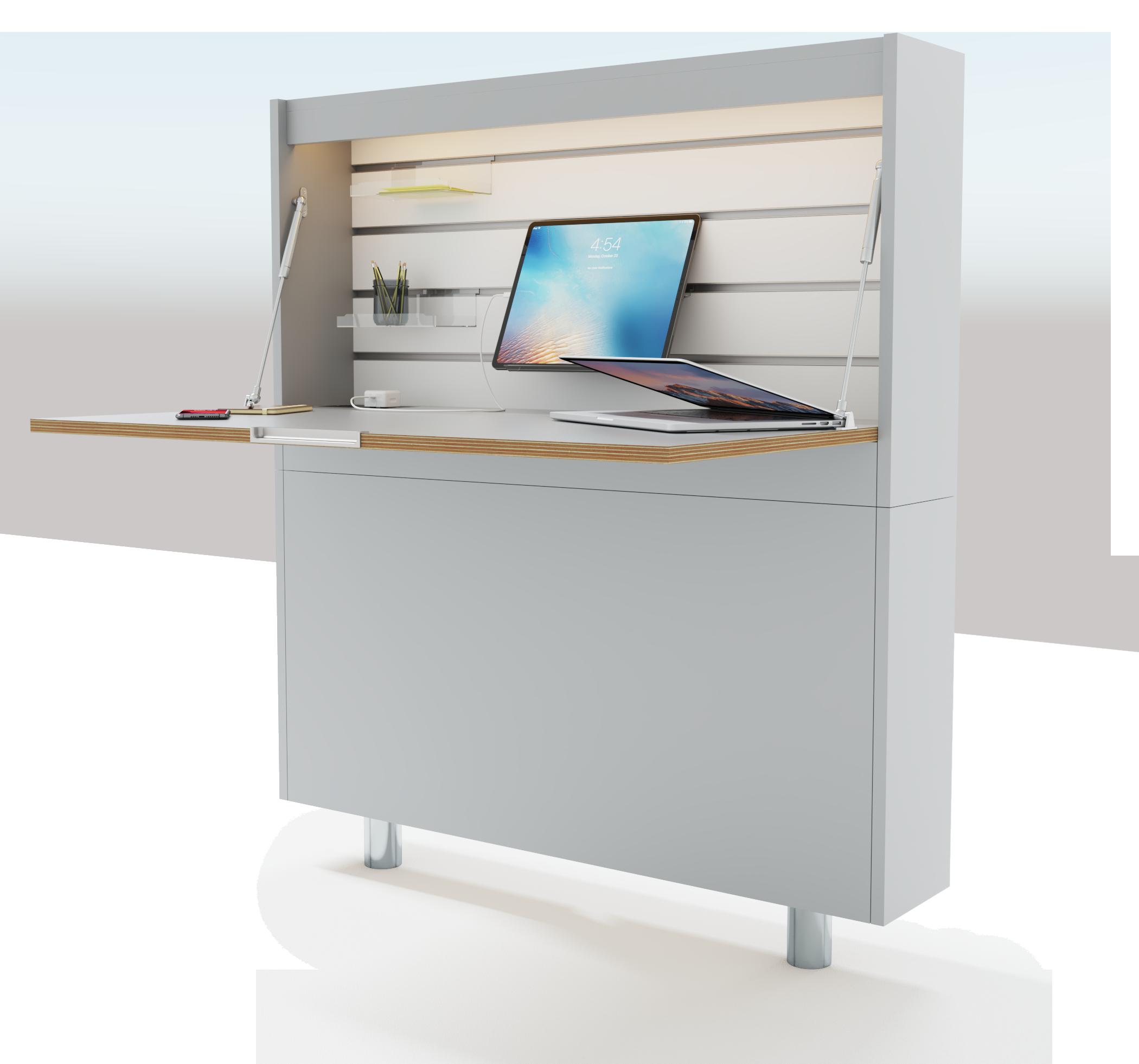 JSJUK Work @ Home Solution Desk Grey