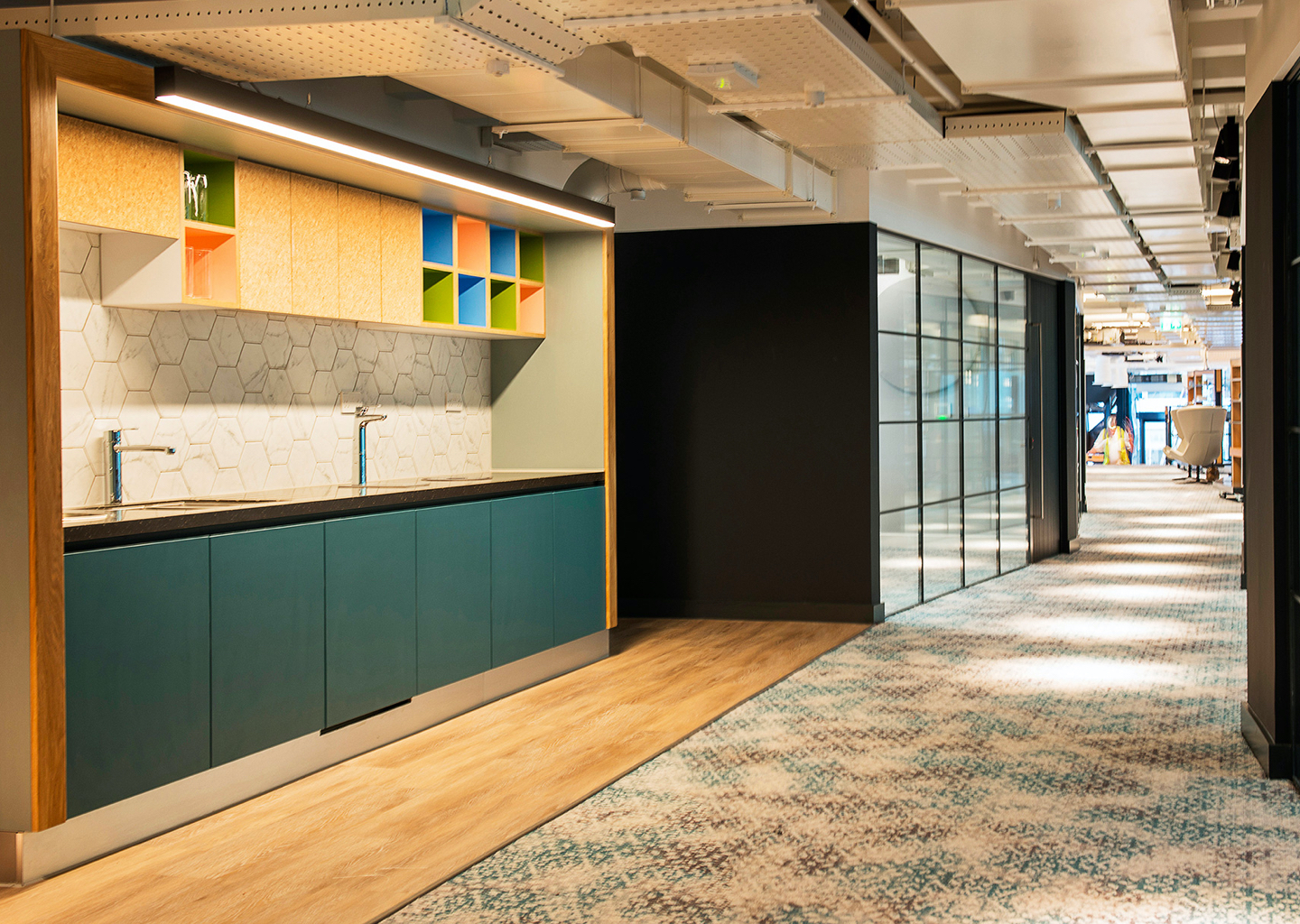 111 Piccadilly Kitchen Area - Manchester - JSJ UK Joinery Specialist